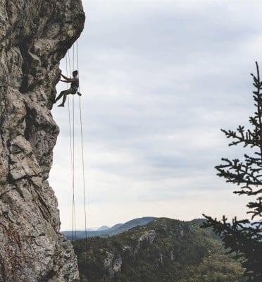 safety of outdoor adventures - rock climbing