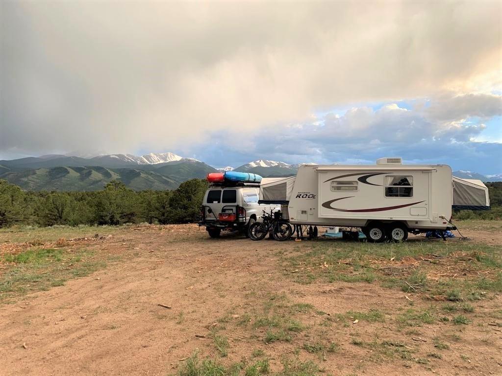 Mt Shavano camping
