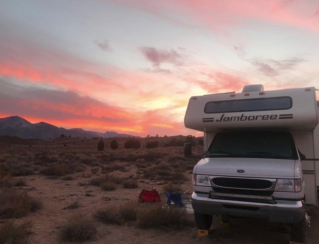 Mammoth CA camping