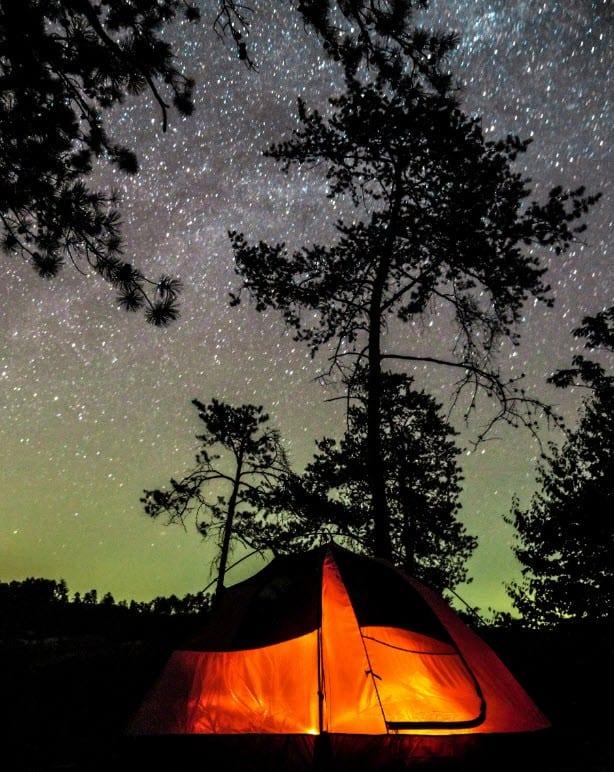 camping backyard