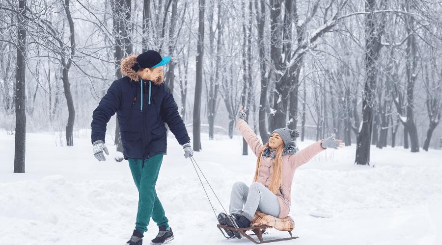 winter sledding activities