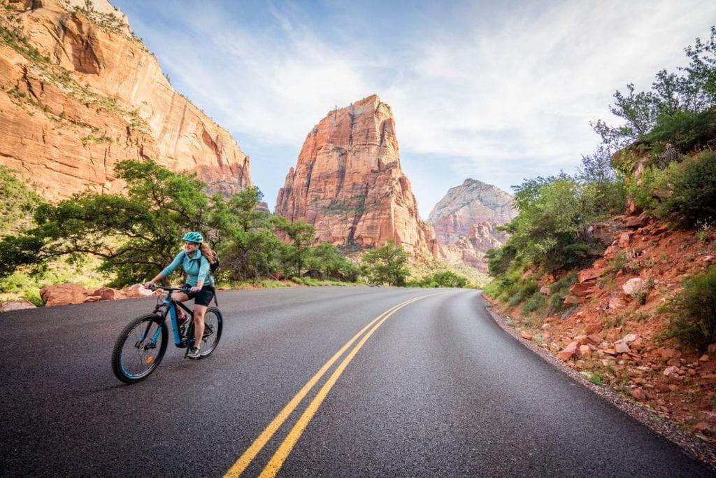 zion bike rentals trip outside
